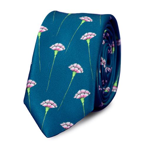 Krawat Tie or Die Goździki