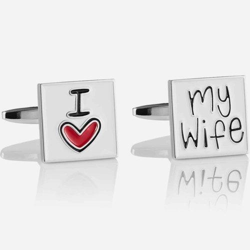 Spinki do mankietów I LOVE MY WIFE
