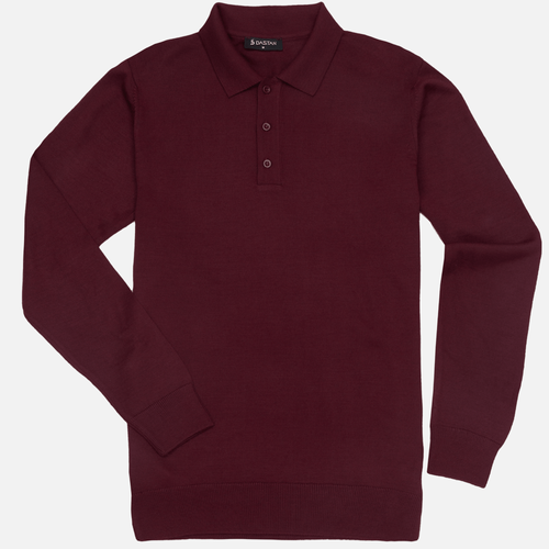 Sweter Polo Bordo